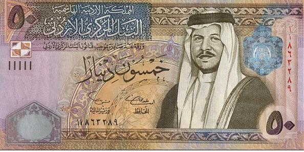 World's Strongest currency Rank 4 Jordanian Dinar
