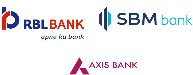 RBL Bank, SBM Bank, Axis Bank